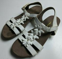 Natural Soul Sandal White Flower Slingback Comfort Women's