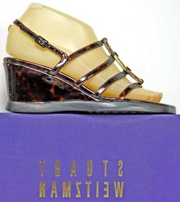 Stuart Weitzman Sandals size 5.5 W Tortoise Shell Strappy We