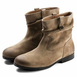 BIRKENSTOCK SARNIA TAUPE WOMEN'S BOOTS SUEDE LEATHER ANKLE B