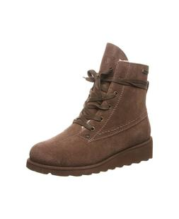 Size 7M, Bearpaw Women's Harmony Wedge Lace-up Boots, Earth