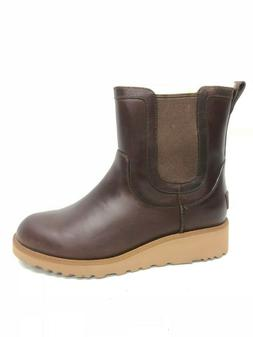 UGG Australia Slim Britt Chestnut Leather Wedge Womens Chels