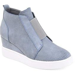 Nailyhome Womens Sneakers Wedges High Top Side Zipper Slip O
