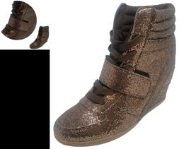 Travelnut Special Eastersteve Metallic High Top Lace Up Wedg