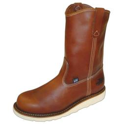 Men's Thorogood 8 inch Steel Toe Wedge Wellington Boots Brow