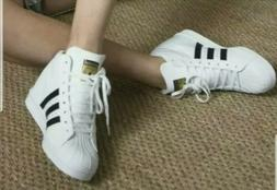 Adidas Superstar Up Wedge FW0118 Women's Shoes Cloud White-C