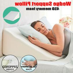 Support Plus Elevate Leg Bed Sleep Wedge Memory Foam Pillow