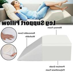 Support Plus Elevated Leg Wedge Pillow Memory Foam Bed Back