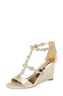 Women's Badgley Mischka Tabby Embellished Wedge Sandal, Size