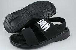 NIKE TANJUN SANDAL BLACK/WHITE ADJUSTABLE ANKLE STRAP SPORT
