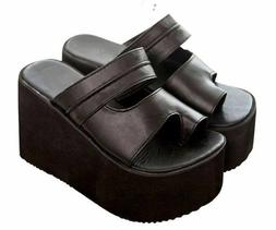 Toe Ring Sandals For Women High Wedge Heels Casual High Qual