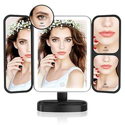 Easehold Led Lighted Vanity Mirror Make Up Tri-Fold with 21P