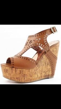 US Seller!!! New Hot Tomato Brown Wedge Sandals