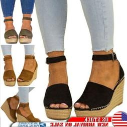 us women high heels wedge sandal open
