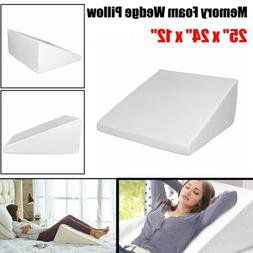 Wedge Incline Memory Foam Bed Wedge Leg Pillow Reading Acid