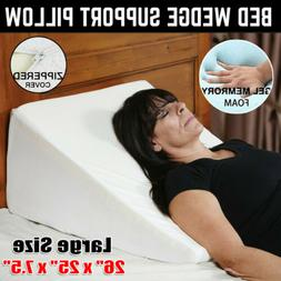 Wedge Incline Memory Foam Bed Wedge Pillow Back Support Acid