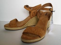 Sonoma Wedge Sandals Espadrille Tan Size 9 Adjustable Ankle