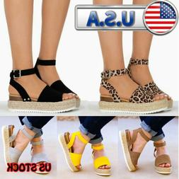 Wedges Shoes For Women Sandals High Heels Summer Shoes Leopa