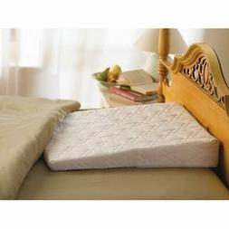 White Satin Cover Pillowcase for Quilted Sleep Wedge Pillow