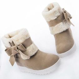 winter warm women bowknow pull on ankle