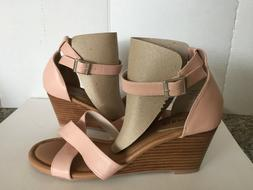 Torrid Woman's ANKLE STRAP SANDALS WEDGE HEELFaux Leather SI