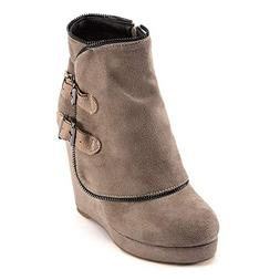 Hunzed Women shoes Winter buckle suede platform ladies retro