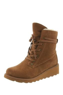Women Bearpaw Boots Krista Wedge Lace Up Ankle Booties Wool