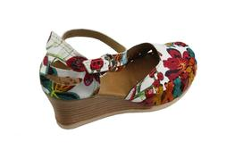Women Genuine Leather Espadrille Wedges Mexican Sandals with
