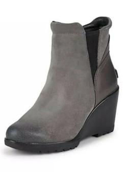 Sorel Women's After Hours Chelsea Quarry Wedge Ankle Boot Sh