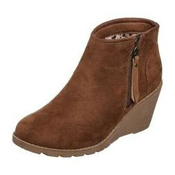 Skechers Women's   BOBS Tumble Weed Wedge Ankle Boot