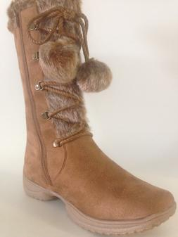 Forever WOMEN'S  Boot WEDGE FAUX FUR   comfort last one size