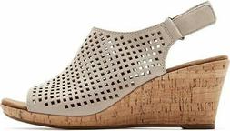 Rockport Women's Briah PERF Sling Wedge Sandal, - Choose SZ/