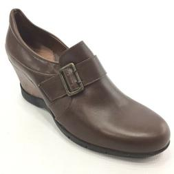 "SANITA Women's Brown Leather 3"" Wedge Shoes Oxfords 42 / 10."
