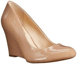 Jessica Simpson Women's Cash Wedge Pump,Nude, 5 M US