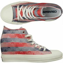 Converse Women's Chuck Taylor All Star Lux Mid WEDGE HEEL Re