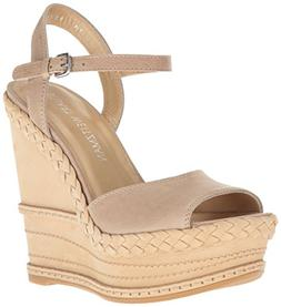Stuart Weitzman Women's Clean Wedge Sandal, Bamboo, 6.5 M US
