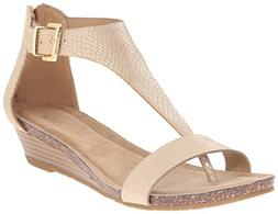 Kenneth Cole REACTION Women's Gal Wedge Sandal, Soft Gold, 7