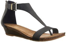Kenneth Cole REACTION Women's Gal Wedge Sandal, Navy, 8.5 M