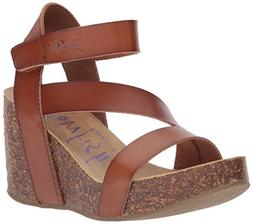 Blowfish Women's Hapuku Wedge Sandal, Scotch Dyecut, 8 Mediu