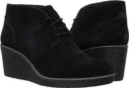 CLARKS Women's Hazen Charm Fashion Boot, Black Suede, 080 M