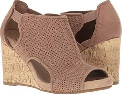 LifeStride Women's Hinx Wedge Sandal, Mushroom, 6.5 M US