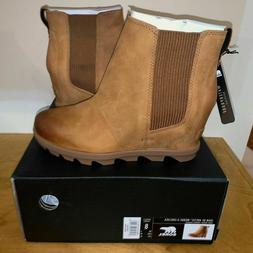 Women's Sorel Joan Of Arctic Wedge II Chelsea Boot Camel Bro
