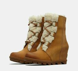 Sorel Women's Joan Of Arctic Wedge II Shearling NEW AUTHENTI