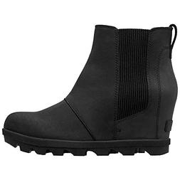 SOREL Women's Joan of Arctic Wedge II Chelsea Boots, Black,