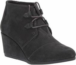 TOMS Women's Kala Oxford Bootie, Forged Iron Grey Suede