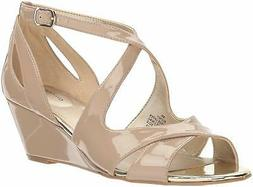 Bandolino Women's Omit Wedge Sandal, Cafe Latte, Size 7.0 mC