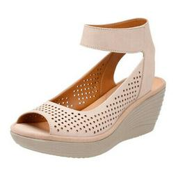 Clarks Women's   Reedly Salene Wedge Ankle Strap