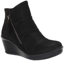 Skechers Women's Rumblers-Ruched Vamp Bootie with Tassel Ank