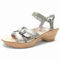 Abeo Women's Sandals Ankle Straps Wedge Rubber Heels Neutral