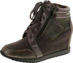 Forever Link Women's Shea-42 Fashion Wedge Sneakers