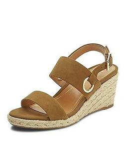 Vionic Women's Tulum Vero Leather Ankle-Strap Wedged Sandals